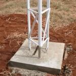 Base para torre estaiada