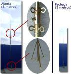 Torre telescópica galvanizada